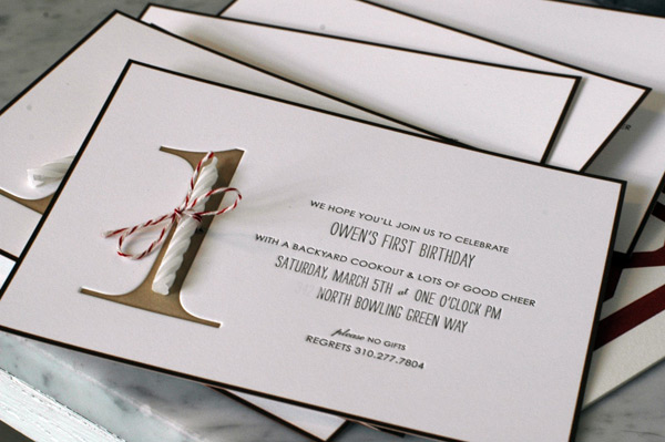 Darling studio b r u n c h simplicity is king i am smitten with these 1st birthday party invitations that my friend chelsea created for her son owen that single white candle tied onto the beautiful stopboris Gallery