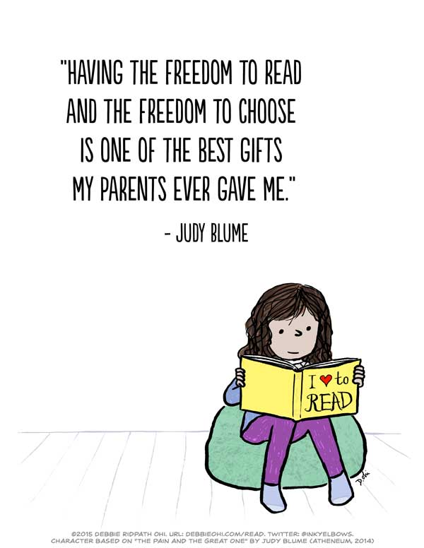 The Freedom To Read: Free, print-ready poster of one of my ...