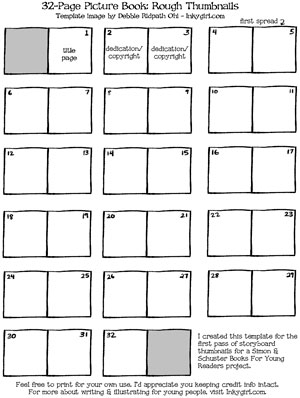 Free Picture Book Thumbnail Templates for Writers and