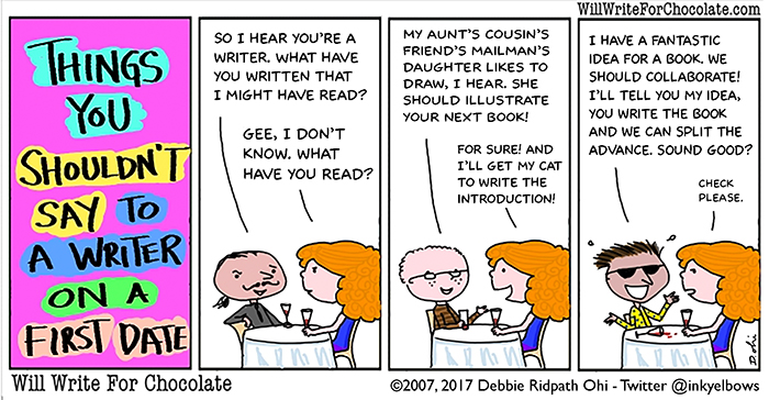 Things You Shouldn't Say To A Writer On A First Date - Will
