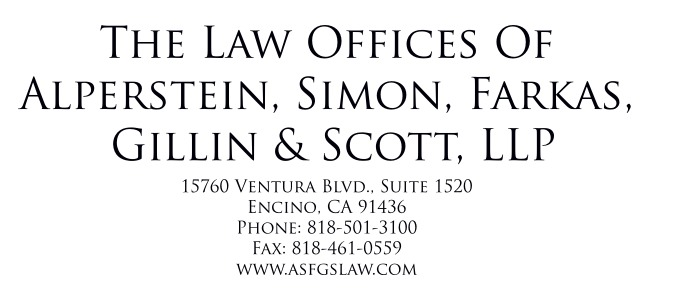 LAW OFFICE OF ALPERSTEIN, SIMON, FARKAS, GILLIN & SCOTT, LLP