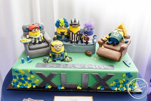 Seattle Seahawks Minion Cake