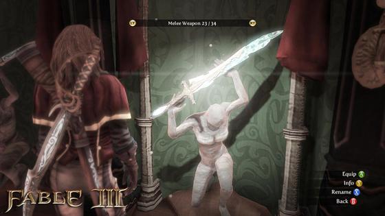 Fable 3 swinging sword