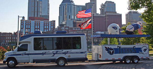 Tennessee Titans Tailgating Bus