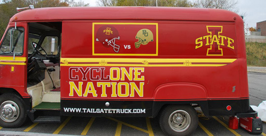 The Iowa State Cyclones Tailgate Van
