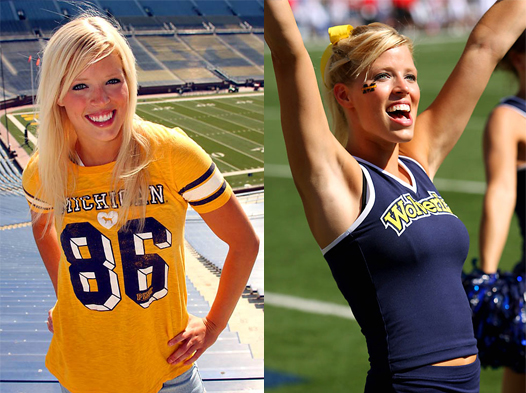 Michigan Cheerleader