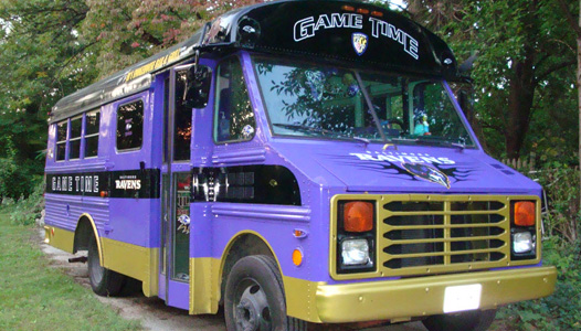 Baltimore Ravens Tailgate Bus