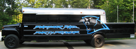 Carolina PantherFanz Tailgate Bus