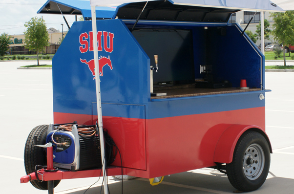 SMU Mustang Tailgating Trailer