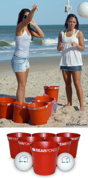 Girls Playing BearPong