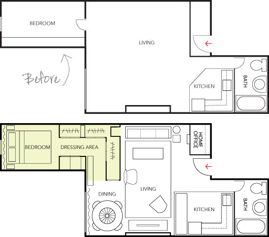 500 Square Feet Apartment Layout Gallery Of Square Foot