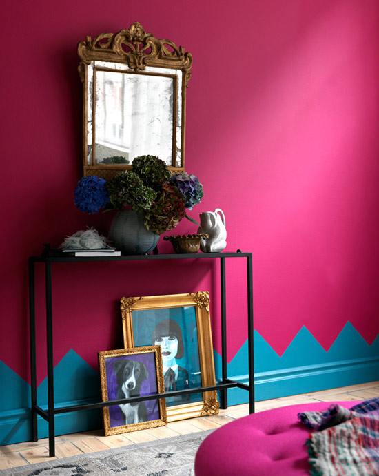 Bedroom pink and blue