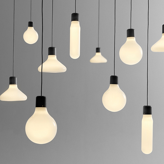 Inspired by the timeless design of the light bulb, these minimalist  pendants are refined to