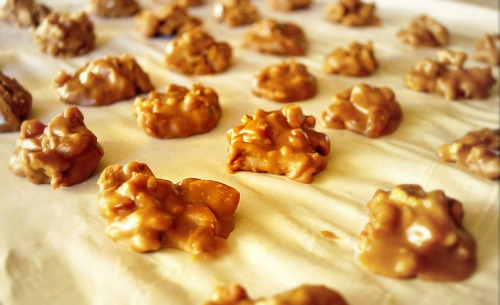 the buttermilk bacon praline recipe is from one of my