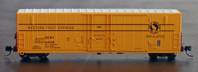 50 ft pc f insulated loader equipped box car wheels of time historically accurate model. Black Bedroom Furniture Sets. Home Design Ideas