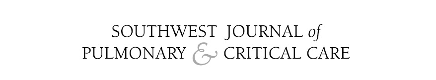 SOUTHWEST JOURNAL of PULMONARY & CRITICAL CARE