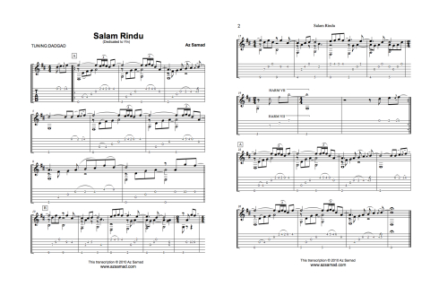Az Samad Official Website Lessons Transcriptions Song Tablature