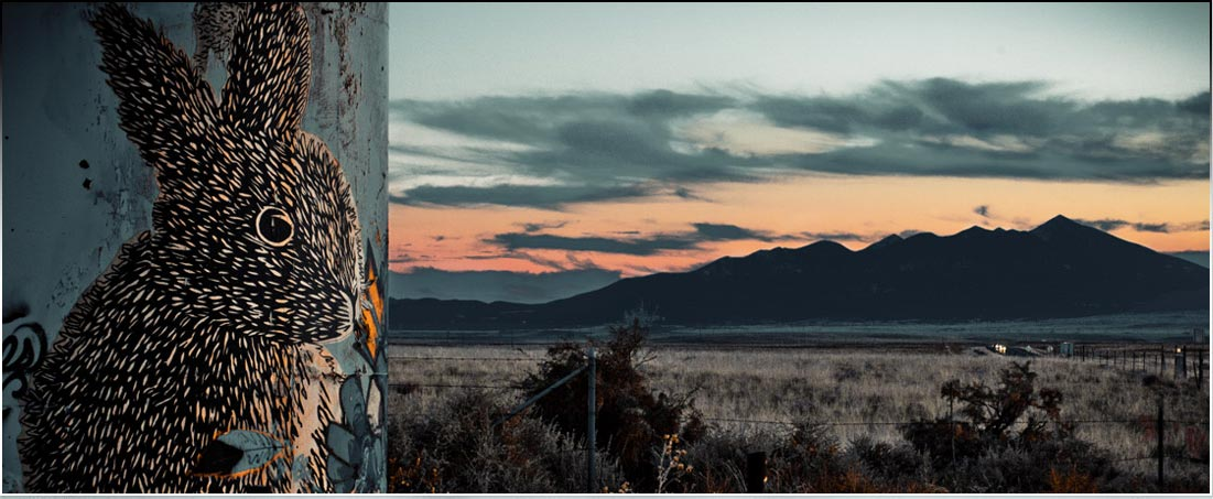 Northern Arizona Flagstaff San Francisco Peaks Sunset Graffiti Navajo Reservation