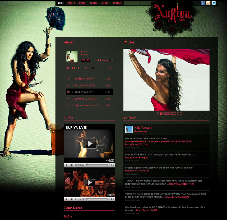 NURIYA music website