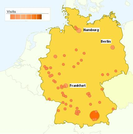 Google Analytics Part Where In The World Home - Germany map with major cities