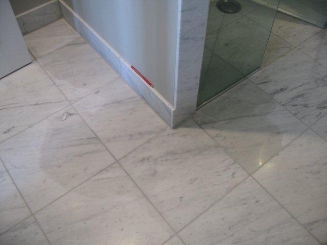 How To Clean Marble Shower Walls Before And After Picture Of A Tumbled Marble Shower Stone