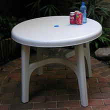 90cm Heavy Duty Table Available In White Blue & Hunters Green