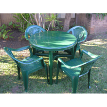 Hunters Green Sunflower Chairs & Table HR