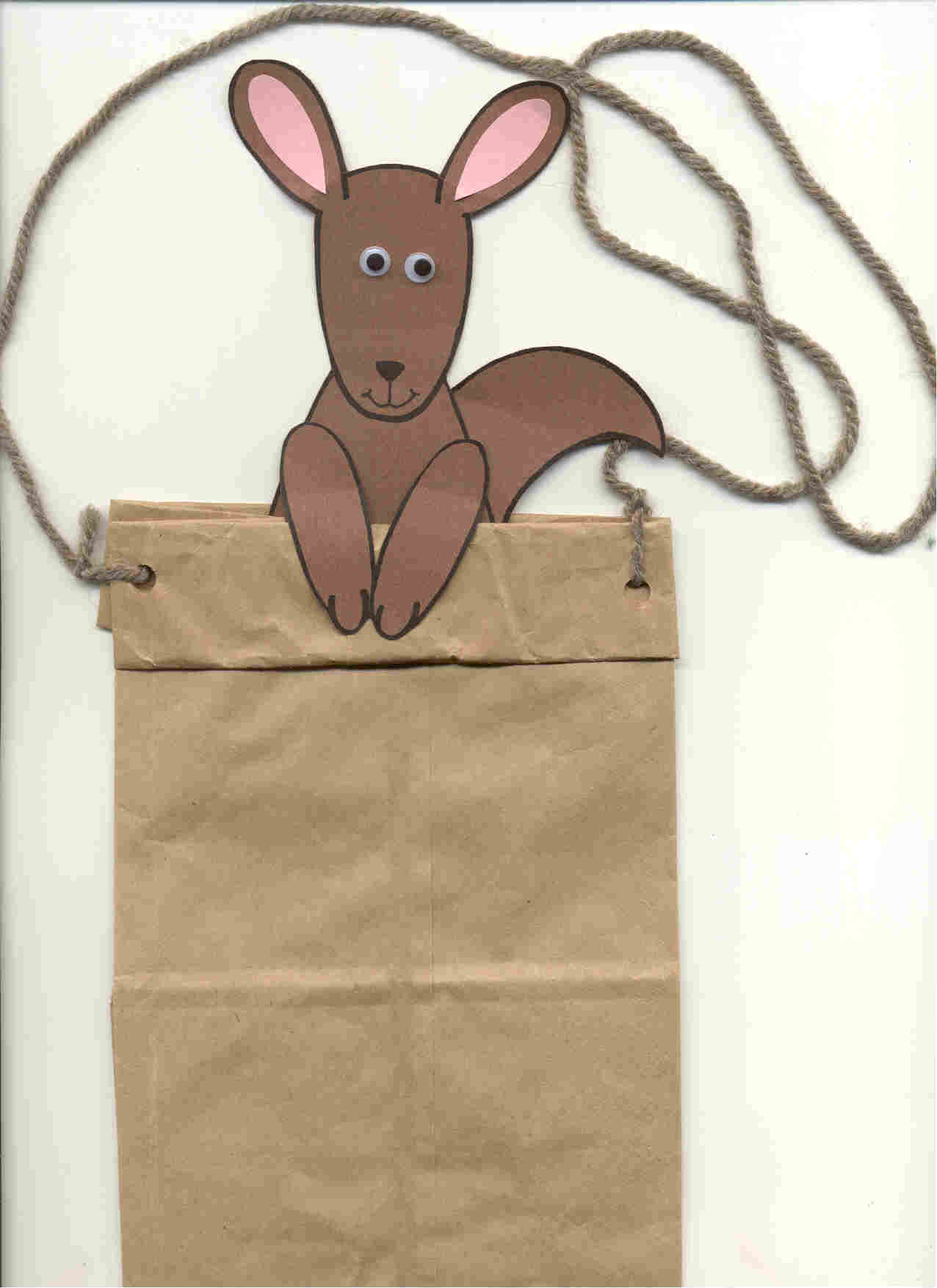 Rachel anne mencke youth services librarian kangaroo for Brown paper bag crafts for preschoolers