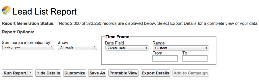 Generate a Report Right From the Record Page - Salesforce
