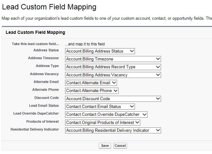 Mapping Fields for Lead Converstion - Salesforce Dev/Admin