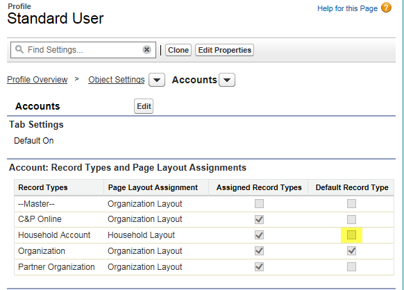 Change Default Record Type on Salesforce Create - Salesforce