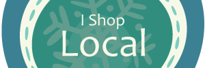 I Shop Local Blue