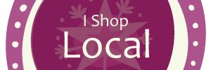 I Shop Local Purple