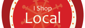 I Shop Local Red
