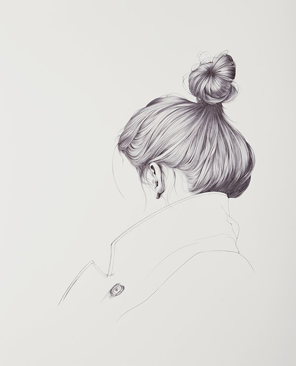 how to draw hair with a micro pen