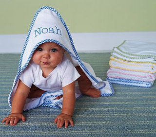 how to bathe a newborn - Hooded Towel