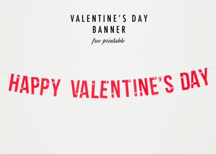 picture regarding Valentine Banner Printable known as SALLYJSHIM - SALLYJSHIM Blog site - [Generate] VALENTINES Working day BANNER