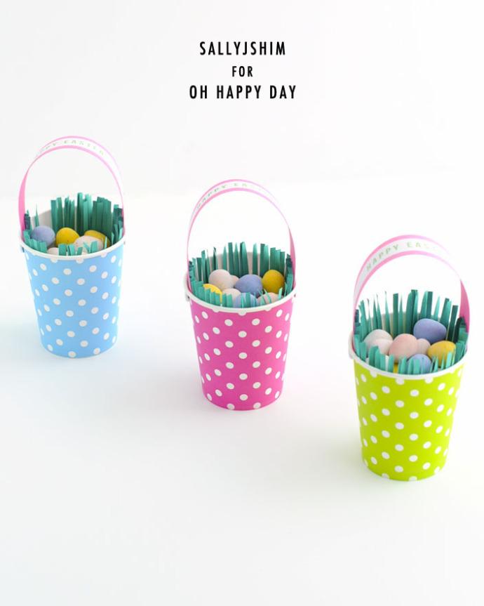 Sallyjshim Sallyjshim Blog Paper Cup Easter Basket Diy