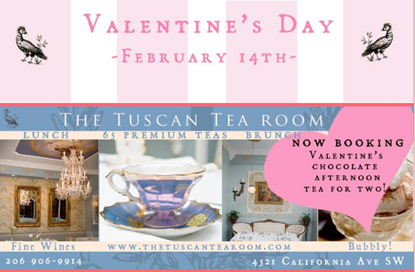 Seattle Tuscan Tearoom Valentines