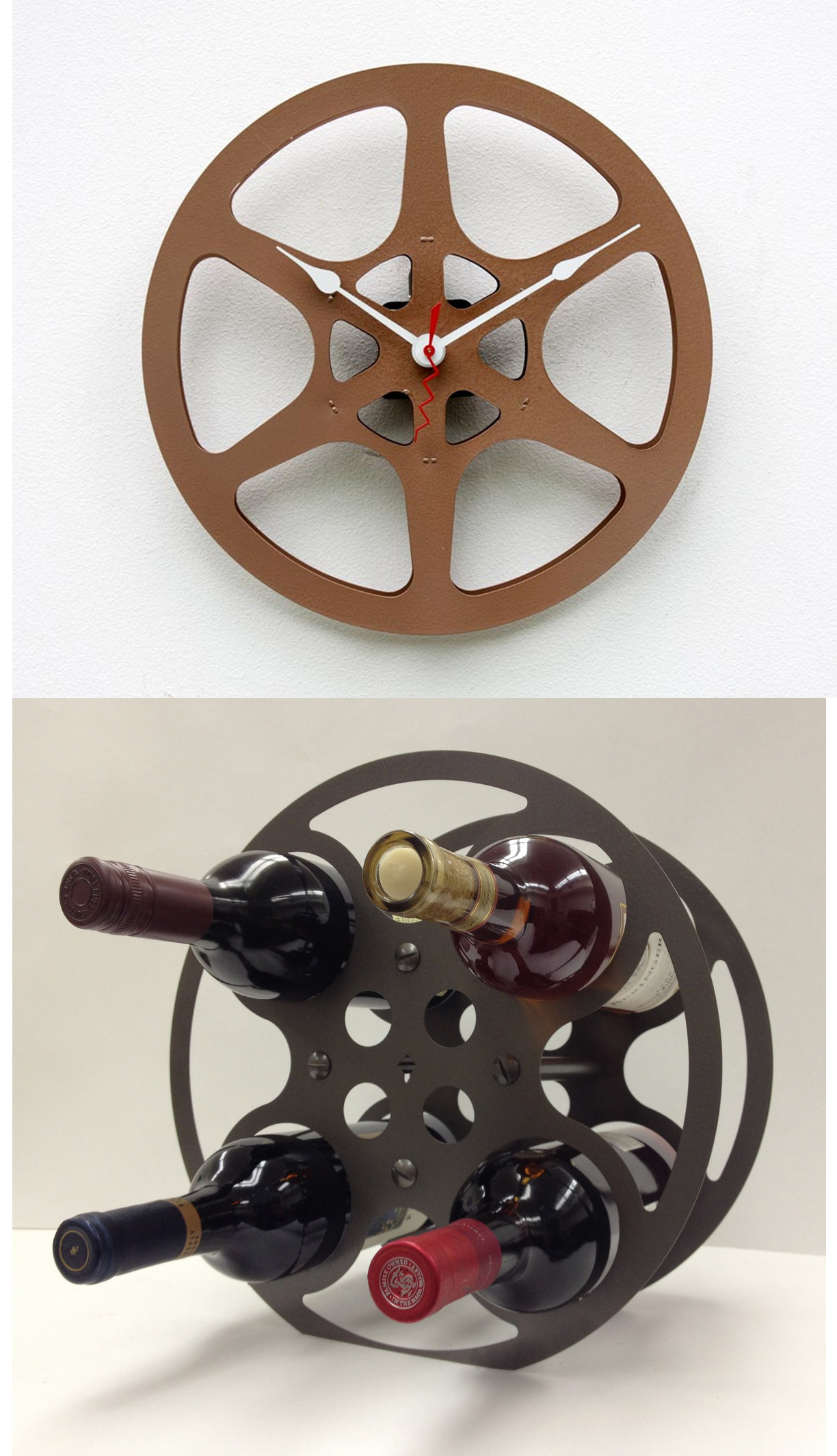 Curio recycling celluloid blog the film experience for Movie reel wine rack
