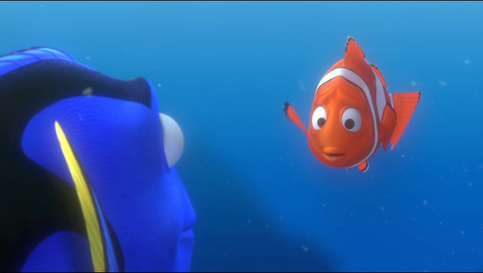 marlin and dory meet bruce