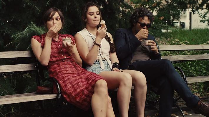 Kiera Knighley, Hailee Steinfeld and Mark Ruffalo in Begin Again