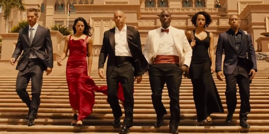 Red dress furious 7 numbers