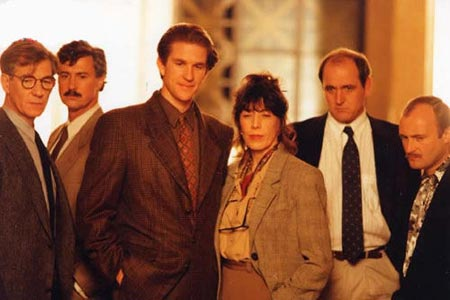 and the band played on Drama doron weber at an event for and the band played on (1993) phil  collins and donal logue in and the band played on (1993) matthew modine in  and.