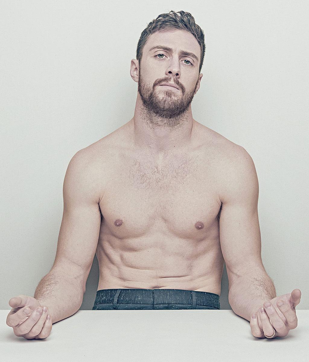 Johnson aaron shirtless taylor
