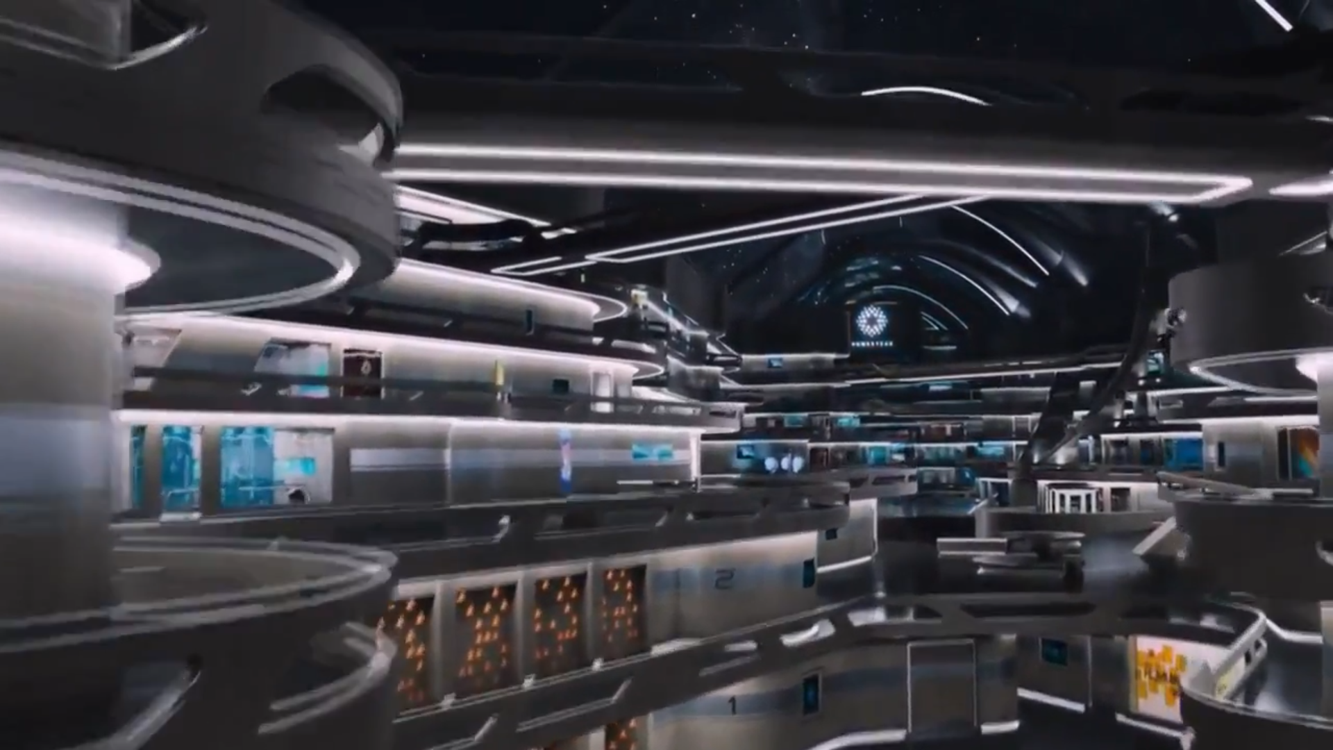 The furniture lost in space and time with passengers for Passengers spaceship