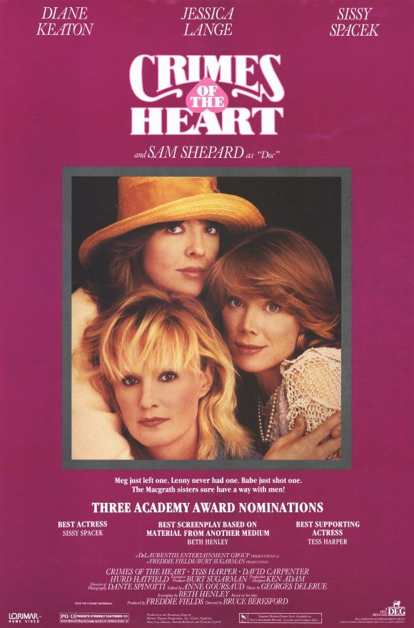 crimes of the heart Crimes of the heart is a 1986 american black comedy, southern gothic film directed by bruce beresford the screenplay by beth henley is adapted from her pulitzer.