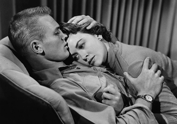 Tab Hunter and Dorothy Malone in