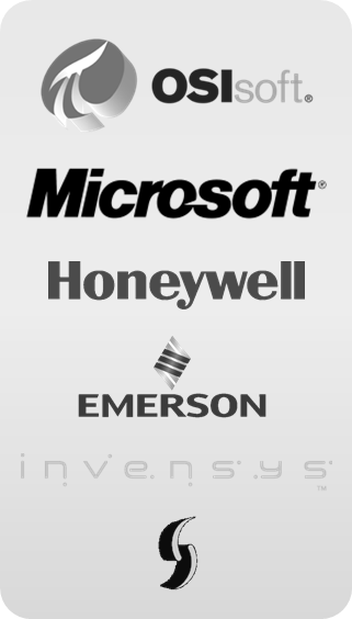 Microsoft, OSIsoft, Honeywell, Emerson, Wonderware, Invensys, Sequencia
