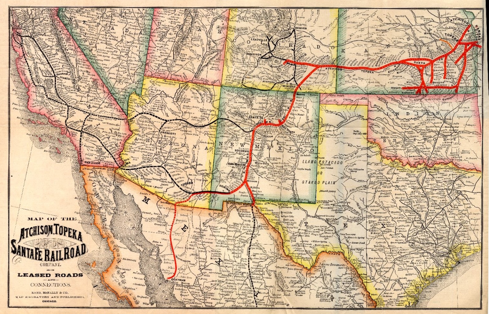 San Bernardino History Railroad Museum - Railroad map us 1880